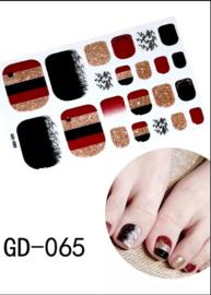 teen nagel stickers nailart bruin goud zwart strepen nagelsticker kalknagel verbergen