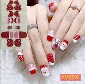 nagelsticker nail art kerst kerstman rendier