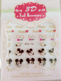 Mickey Mouse nailart nagelstickers