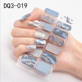 nail art stickers blauw zand zon en zee