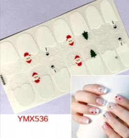 nail art sticker sneeuw pop kerst kerstboom nagel sticker