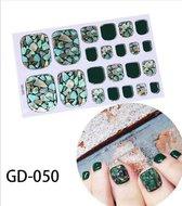 teen nagel stickers nailart vlekken groen zwart nail art sticker kalknagel verbergen teennagel
