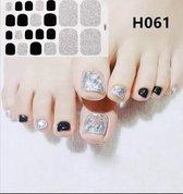 teen nail art nagel sticker nailart zwart zilver nagelsticker