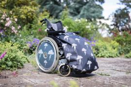 Volwassen adult Voetenzak rolstoeldeken rolstoel beenwarmer schootmobiel beenzak deken Cosy Silver LIghtning volwassen adult