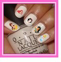 Disney nail art stickers 44 velletjes Frozen, Mickey, Ariel, Aladin, Prinses, Belle enz.