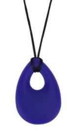 bijtsteen ketting voor moeder en kind kauw sieraden kauwsieraden Paars/Blauw