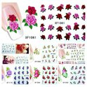 Nail art stickers bloemen roosjes 10 velletjes Nailart nagel stickers