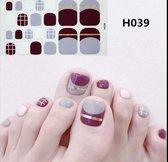 teen nagel stickers nail art nagelsticker rood paars