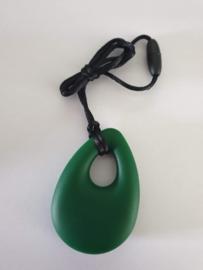 bijtsteen ketting voor moeder en kind kauw sieraden kauwsieraden leger groen