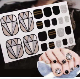 teen nagel stickers nailart diamant nail art sticker kalknagel verbergen