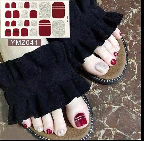 teen nagel nailart stickers nail art rood steep