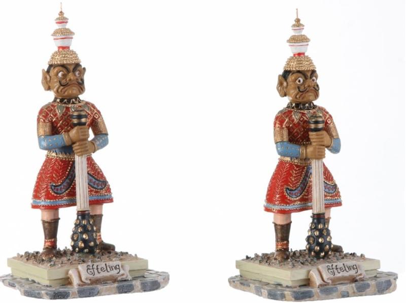Efteling Miniaturen wachters indische waterlelies 2 stuks 2018