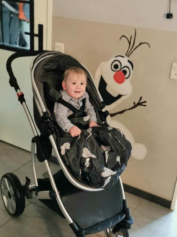 kids kinder Voetenzak rolstoeldeken rolstoel beenwarmer scootmobiel beenzak deken kinderbeenzak Wheelchair Cosy Silver LIghtning