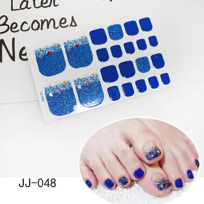 teen nagel stickers nailart stand zee blauw bal nagelsticker kalknagel verbergen