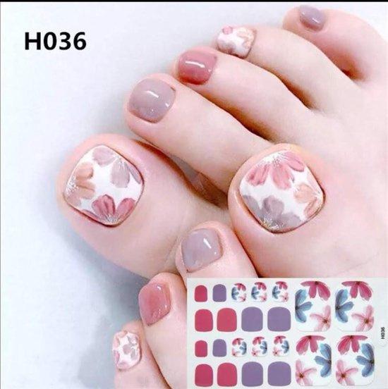 teen nagel stickers nailart bloemen nagelsticker kalknagel verbergen