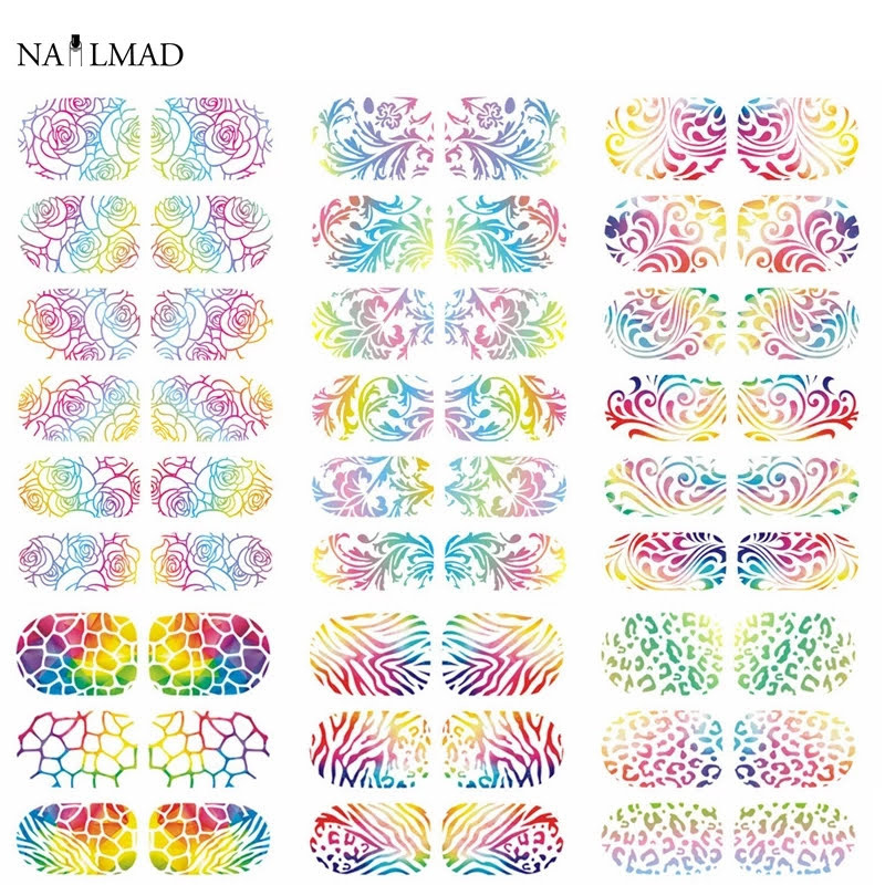 nail art water stickers rainbow flowers bloem nail art water decals
