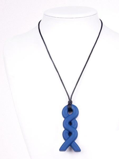 Bijt steen ketting kauw sieraden Fantasie Donker Blauw