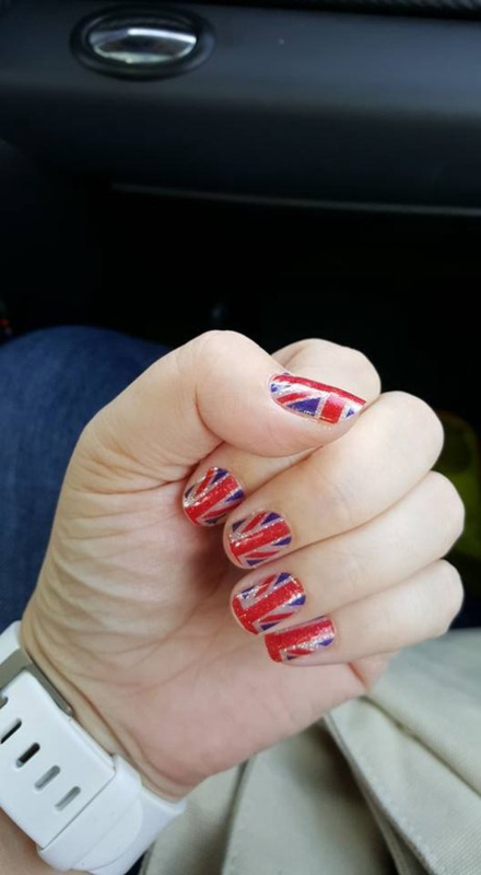 Nail art Stickers union Jack Londen