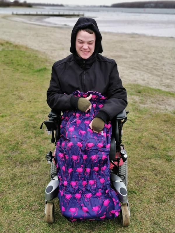 adult volwassen Voetenzak rolstoeldeken rolstoel beenwarmer scootmobiel beenzak deken Wheelchair Cosy flamingo deken adult volwassen