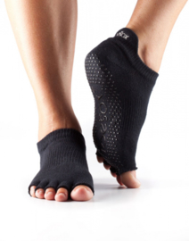 ToeSox HalfToe Low Rise, Black