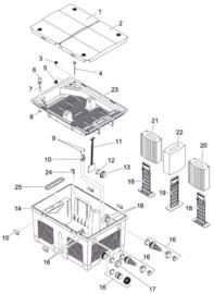 (21) Vervangmousse rood BioSmart 18000-36000