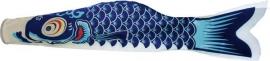Wind-Koi Nobori blauw (