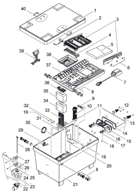 (21) Reservoir BioTec Screenmatic 36