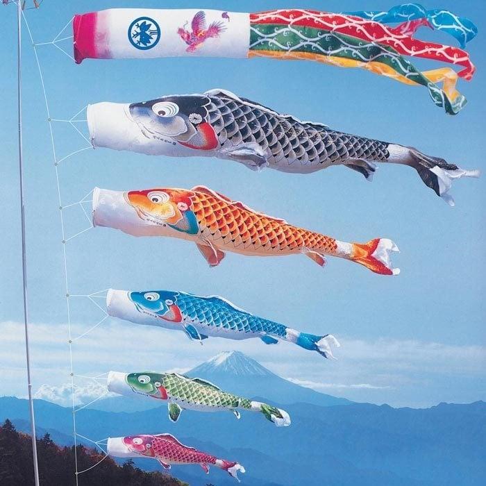 Wind-Koi Nobori De echte uit Japan !!