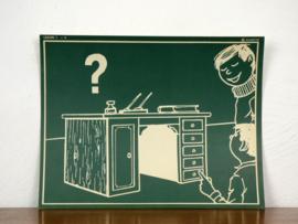 vintage schoolplaat Plantyn les 14