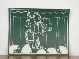 vintage schoolplaat Plantyn les II 53