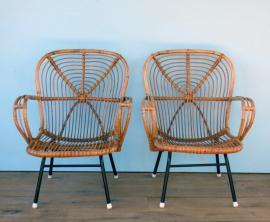 Rotan fauteuils Rohe Noordwolde  *VERKOCHT*