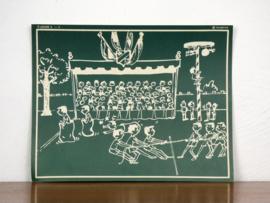 vintage schoolplaat Plantyn les II 54