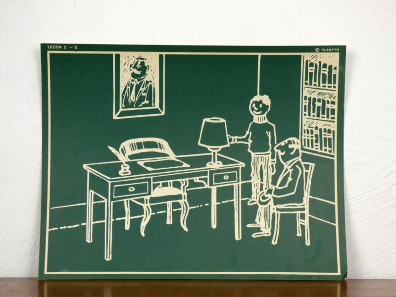 vintage schoolplaat Plantyn les 25