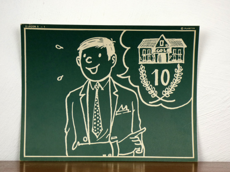 vintage schoolplaat Plantyn les II 52