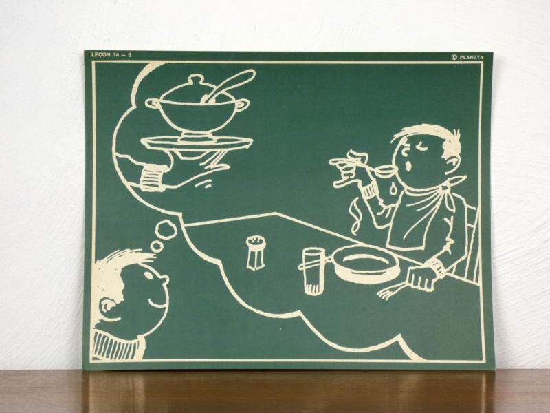 vintage schoolplaat Plantyn les 145