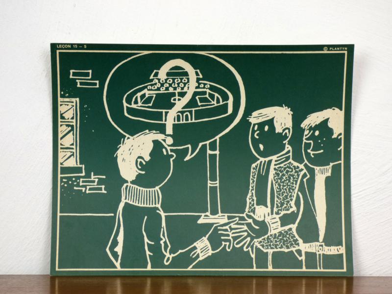 vintage schoolplaat Plantyn les 155
