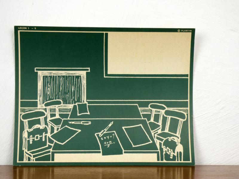 vintage schoolplaat Plantyn les 19