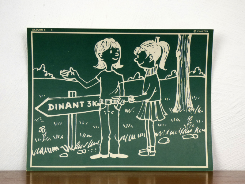 vintage schoolplaat Plantyn les II 65