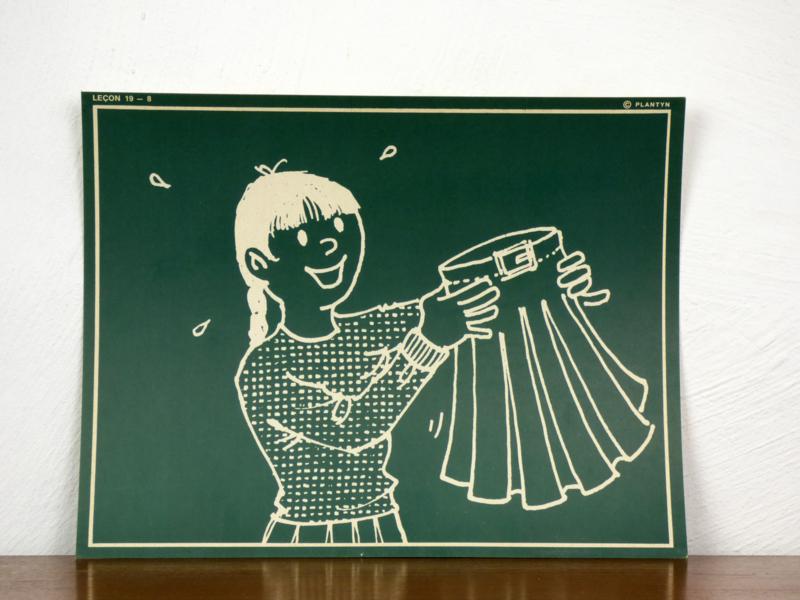 vintage schoolplaat Plantyn les 198