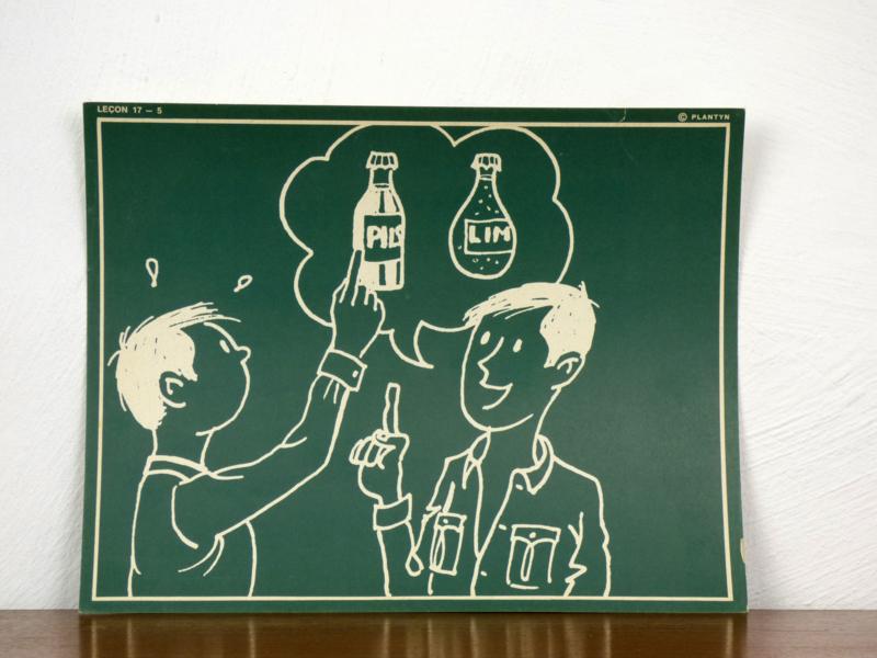 vintage schoolplaat Plantyn les 175