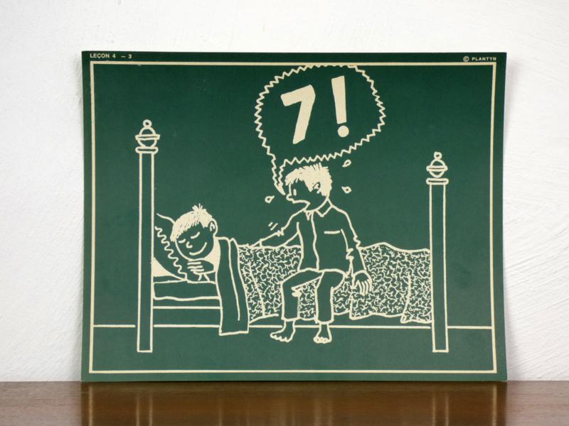 vintage schoolplaat Plantyn les 43