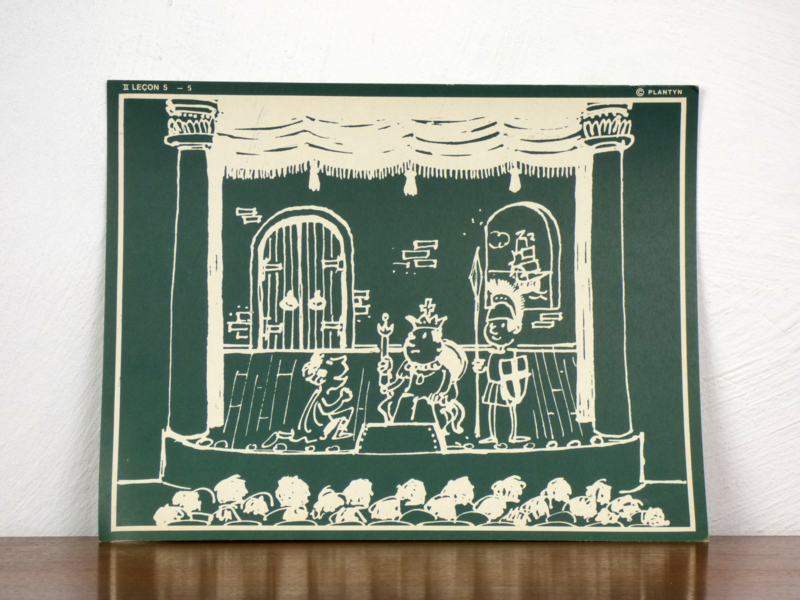 vintage schoolplaat Plantyn les II 55