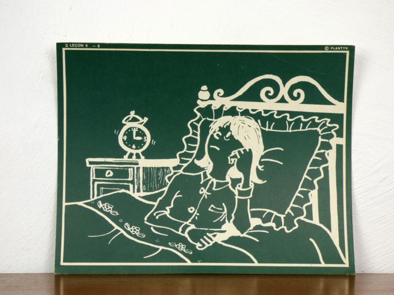 vintage schoolplaat Plantyn les II 68