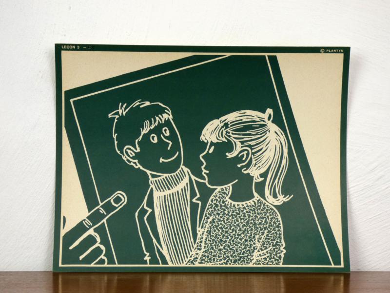 vintage schoolplaat Plantyn les 35