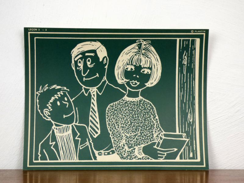 vintage schoolplaat Plantyn les 33
