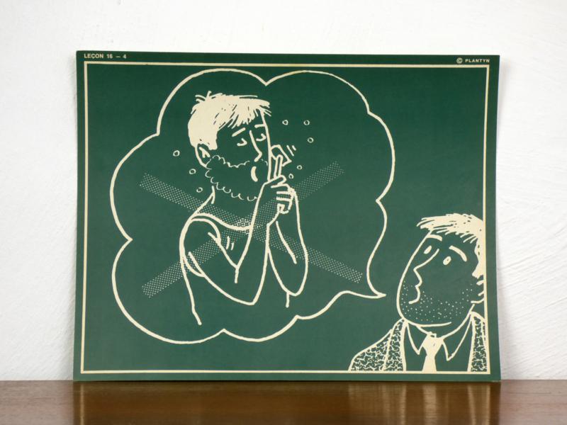 vintage schoolplaat Plantyn les 164