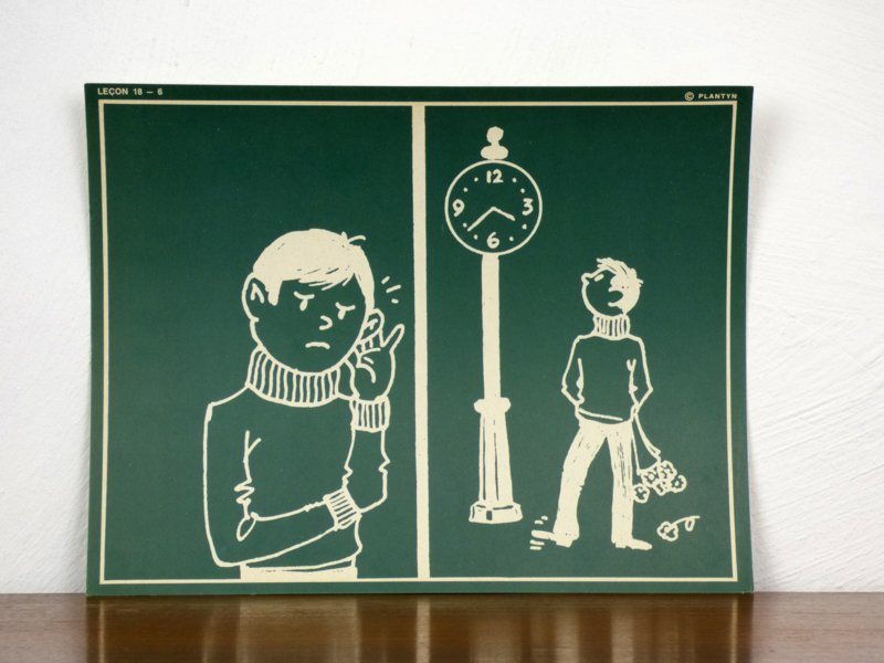 vintage schoolplaat Plantyn les 186