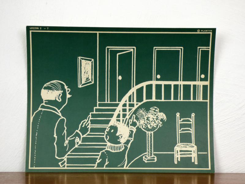 vintage schoolplaat Plantyn les 27