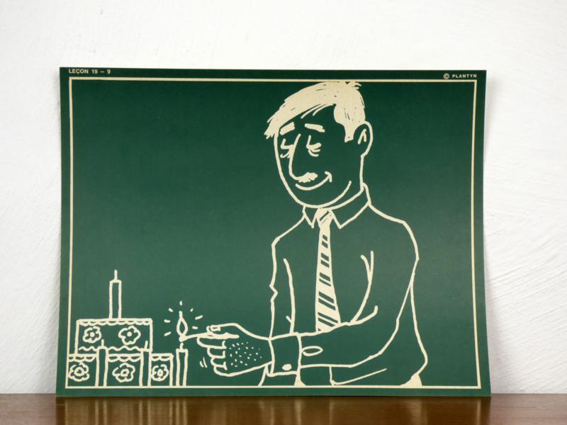 vintage schoolplaat Plantyn les 199
