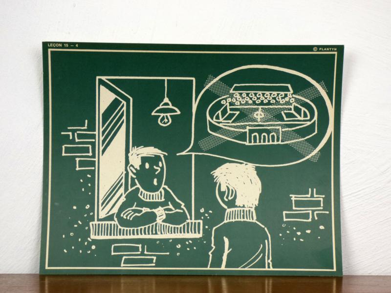 vintage schoolplaat Plantyn les 154